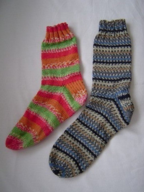 Knitting Socks On Circular Needles Pattern : Knit Pattern Socks on Circular Needles by KalamazooKnits on Etsy