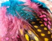 Reserved listing for benedewaard- Mr. T feather earrings