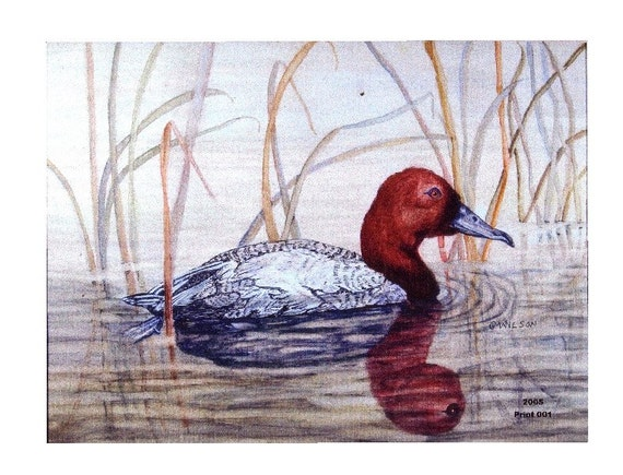 Fall -Come Back Duck Notecard