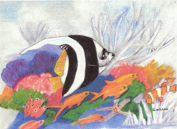 Tropical Fish In School