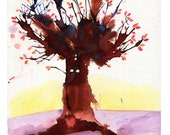 Rorschach Tree  - 8x10 Art Print - Strange and Spooky Autumn Tree - Art by Marcia Furman