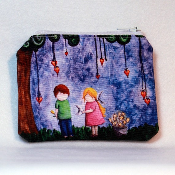 So That You Would Not Forget Me - Small Zipper Pouch girl boy love romance