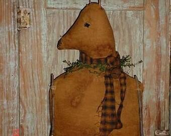 Primitive ChriStMas PATTERN Reindeer Door Doll