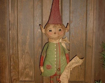 Primitive Elf Doll E-Pattern