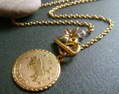 signs . taurus . horoscope and birthstone necklace