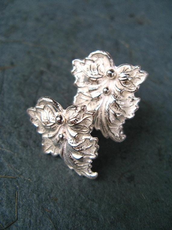Silver Leaf Cufflinks