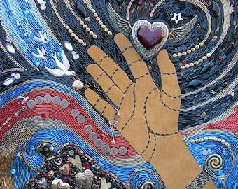 Thief of Hearts Beaded Mosaic Art