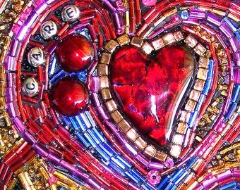 You've Got Heart Beaded Mosaic Art