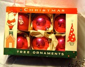 Vintage Poland Christmas ornaments extra large Pink