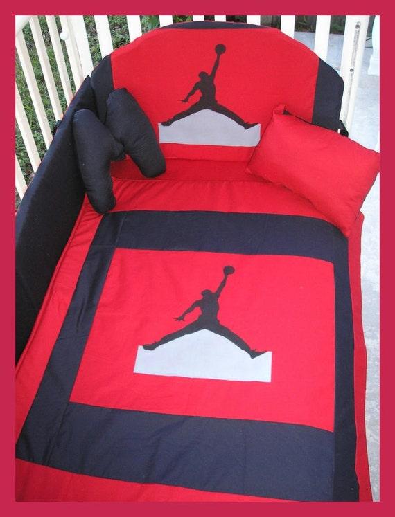 New Custom Made Michael Jordan Jumpman Crib Bedding Set