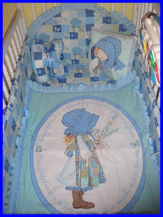Holly Hobbie 7 Piece New Custom Made Crib Bedding Set