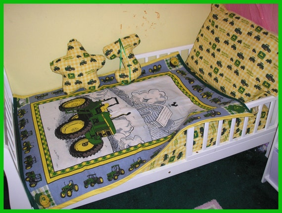 John Deere Crib Toddler Bedding Set NEW With Blanket Fitted