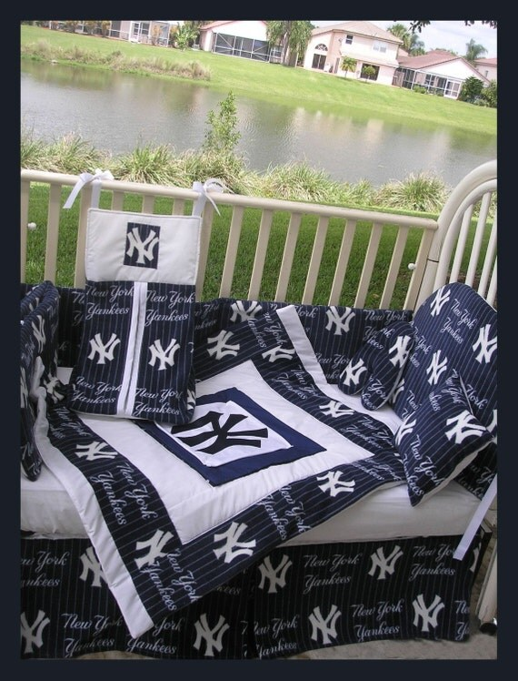 upscale new york yankees baby crib bedding set custom made to order