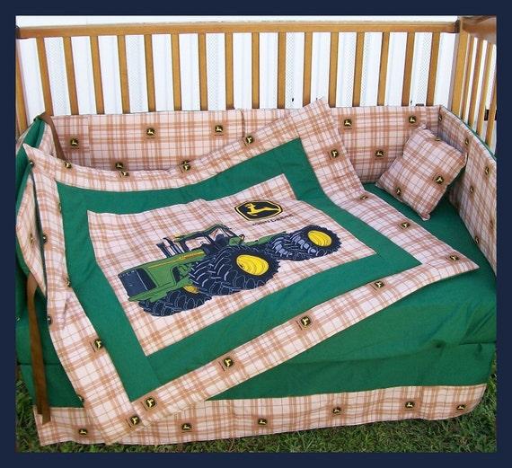 Deer Crib Bedding For Boys : Sale new piece john deere crib bedding set with large
