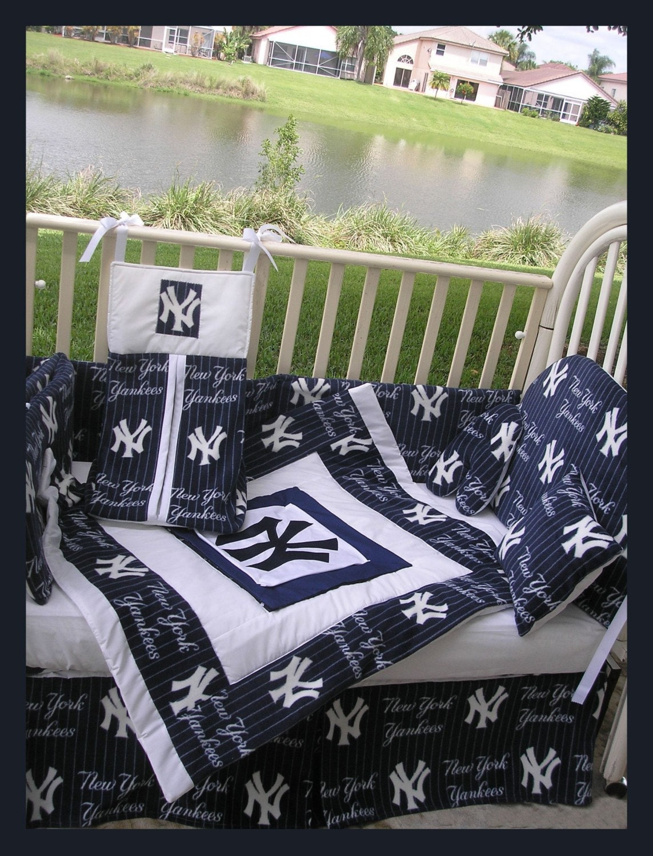 Atlanta Braves Bedroom Decor: Upscale NEW YORK YANKEES Baby Crib Bedding Set Custom Made To