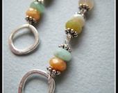 San Lucas earrings - Mexican fire opal & sterling silver