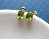 Paige earrings - peridot & goldfilled