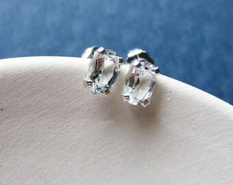Wendy earrings - white topaz & sterling silver