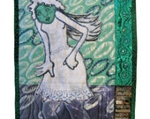 """SALE Original Art Quilt - """"This Time No More Secrets"""" - 9"""" x 12"""" by Stella Belikiewicz  - One of a Kind"""