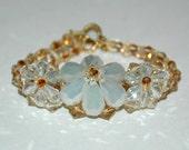 Topaz Crystal Flower Bracelet
