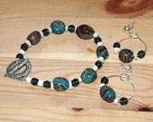 Ocean Crystal Bracelet and Hoop Earrings Set
