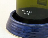 Cobalt Blue Wine Bottle Coaster