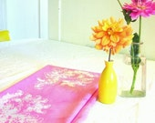 mini tablecloth. hand printed and dyed.