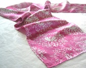 waterlily silk scarf