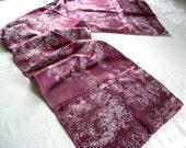 sugarplum purple silk scarf
