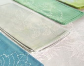 pastel lunch napkins.  set of 5