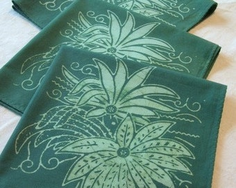 teal and seafoam chrysanthemum napkins