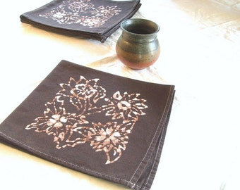 chocolate brown dinner napkins