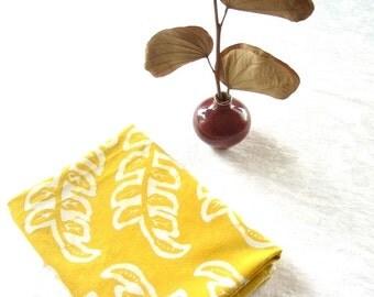 chartreuse yellow seedlins floursack towel