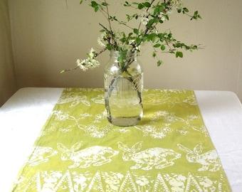 wasabi green bunny towel