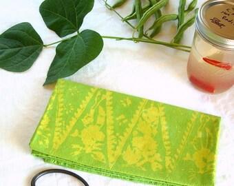 garden greens floursack towel