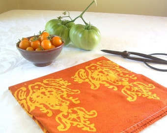 paprika and saffron floursack towel