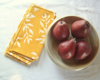 batik cloth napkins. bamboo pattern-you choose the color