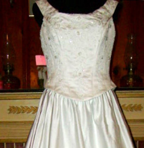 lovely size 12 formal wedding dress, white, sparkles and gleams