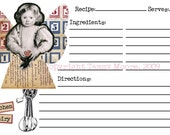 Kitchen Fairy - Recipe Cards - 4x6 Printable Stationary