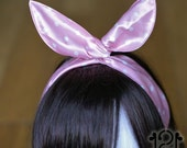 Magic Headband - pink n white dots