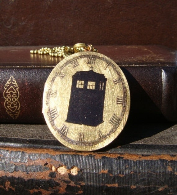 Tardis Time Traveler Locket