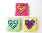 Bright Hearts Magnets - butterflymosaics