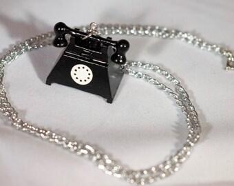 Black Telephone Necklace