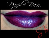 Purple Rain Mineral makeup Lipstick (Dark red with purple shimmer & blue duochrome shift) Cheek and Lip Color