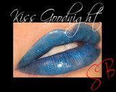 Kiss Goodnight Lip Gloss Goth Gloss (Beautiful blue shimmer) Mineral Lacquered Up Full size wand