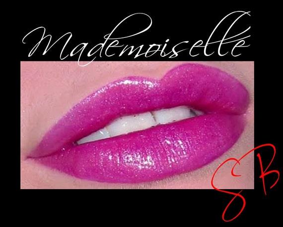 Mademoiselle Mineral makeup Lipstick (Purple toned fuchsia Magenta) Cheek and Lip Color