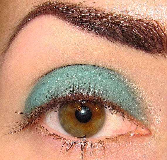 Nymph-O Mineral Eyeshadow (Teal green shimmer with a bit of red sparkle) makeup Eye shadow Eyeliner