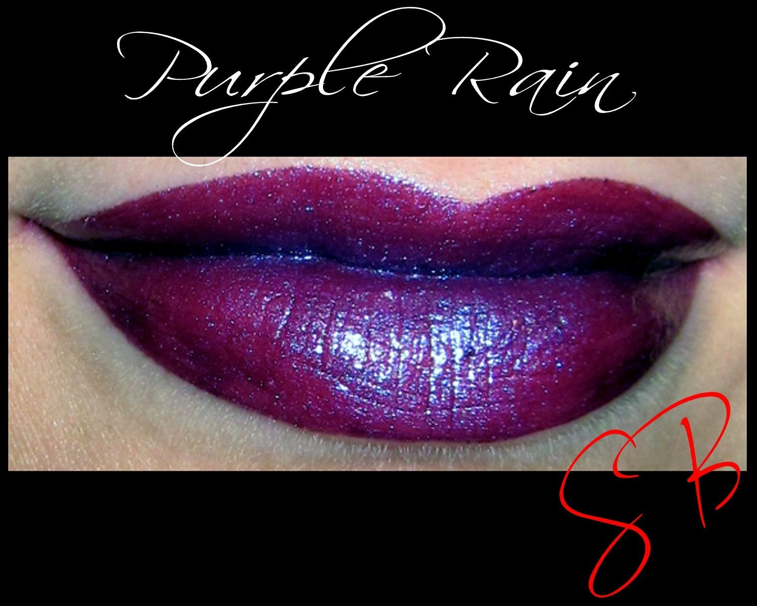 Purple Rain Mineral makeup Lipstick Dark red with purple