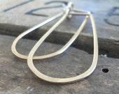 Gold Tear Drop Hoops - Handmade. Hand Forged. 14kt Goldfill