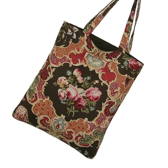 XMAS SPECIAL reg 30 -- Multi Use Market Bag Magazine Tote in Gypsy Rose